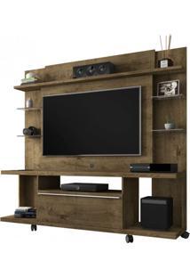 Estante Home Para Tv Até 50 Polegadas 1 Porta New Torino Móveis Bechara Madeira Rústica