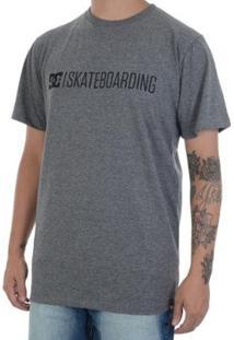 Camiseta Dc Shoes Basic Skateboarding 2019 Masculina - Masculino-Cinza