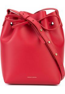 Mansur Gavriel Bolsa Bucket Mini - Vermelho