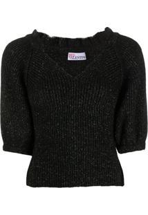 Redvalentino Suéter Com Detalhe De Brilho - Preto