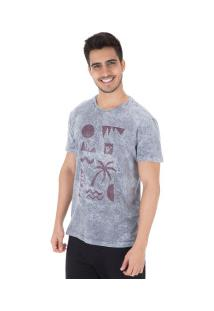 Camiseta Hang Loose Cliff - Masculina - Cinza