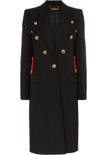 Givenchy Casaco Com Detalhe Contrastante E Botões - Preto
