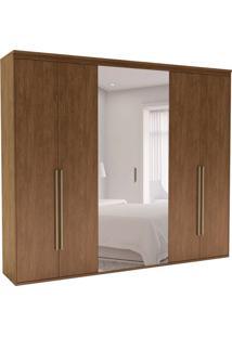 Guarda-Roupa Casal Com Espelho Originale 6 Pt 6 Gv Ébano 227 Cm