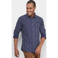 6f436e165 Camisa Colcci Slim Full Print Masculina - Masculino