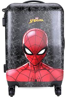 Mala Bagaggio Spider Man Face Bordo Pequena - Masculino