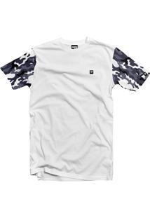 Camiseta The Garage Custom Tees Camouflage Manga Branco