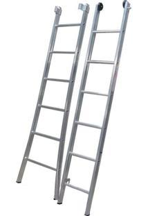 Escada De Alumínio Alulev, 2 X 13 Degraus - Ed113