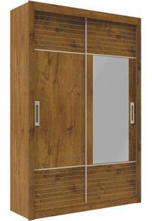 Guarda-Roupa Milan Com Espelho - 2 Portas - Canela