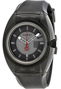 3b4b262a36cfe ... Relógio Gucci Masculino Borracha Cinza - Ya137111