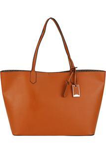 Bolsa Capodarte Shopper Monograma - Feminino-Marrom