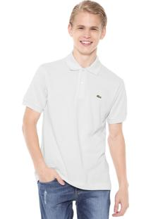 Camisa Polo Manga Curta Lacoste Bege