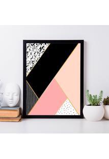 Quadro Decorativo Com Moldura Geometrico