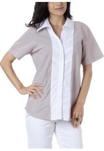 Camisa Energia Bege/Branca