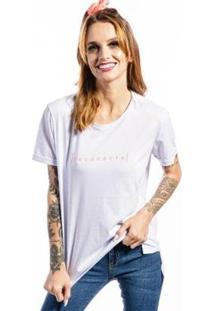Camiseta Cia Gota Reconecte Feminina - Feminino-Branco