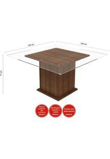 Sala De Jantar Mesa E 8 Cadeiras Madesa Vívian Rustic/Sued Pérola