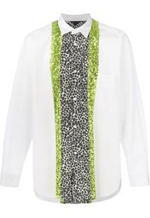 Comme Des Garçons Homme Plus Camisa Com Estampa De Leopardo - Branco