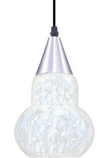 Pendente Redondo Para 1 Lâmpada Verona Liso Transparente E Leitoso E27 Taschibra Transparente