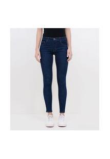 Calça Skinny Push Up Em Jeans Com Lycra® | Blue Steel | Azul | 38