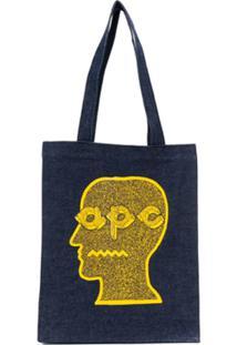 A.P.C. Bolsa Tote Coddy - Azul