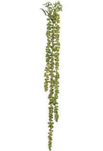 Pendente Suculenta Florarte 74Cm 3 Galhos Verde