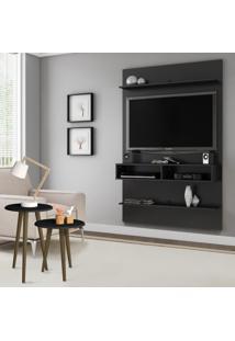 Painel Para Tv Até 47 Polegadas Com Mesa Lateral Cary Preto Fosco - Pnr Móveis