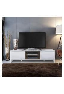 Rack Para Tv Até 75 Polegadas Madesa Metz 180 Cm 2 Portas Branco/Rustic