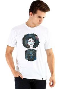 Camiseta Ouroboros Manga Curta Galaxy - Masculino-Branco