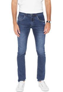 Calça Jeans Yachtsman Slim Estonada Azul