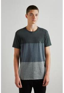 Camiseta Degrade Athenas Reserva Masculina - Masculino-Verde Escuro