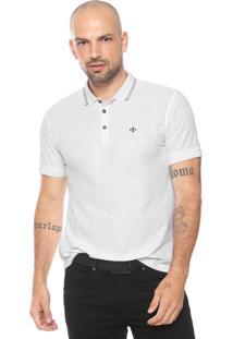 Camisa Polo Dudalina Reta Listras Branca