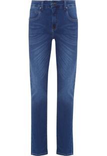 Calça Masculina Jeans Blue Comf Skin - Azul