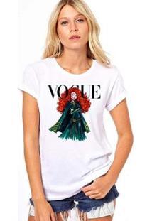 Camiseta Coolest Valente Vogue Feminina - Feminino-Branco