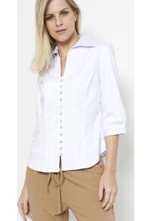 50d3d4e114 ... Camisa Com Pregas- Branca- Vip Reservavip Reserva