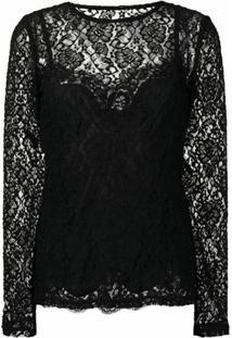 Dolce & Gabbana Blusa De Renda - Preto