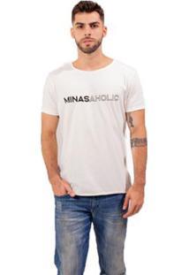 Camiseta Bendizê Minasaholic Masculina - Masculino-Branco
