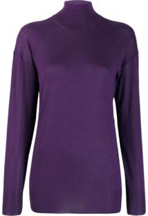 Tom Ford Turtle Neck Top - Roxo