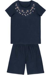 Pijama Em Malha De Algodão Com Estampa Localizada