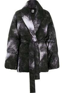 Bacon Tie-Dye Puffer Jacket - Preto