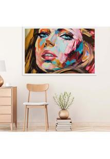 Quadro Love Decor Com Moldura Painting Girl Branco Médio
