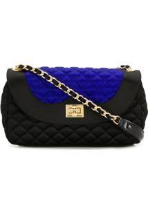 Moschino Quilted Crossbody Bag - Preto