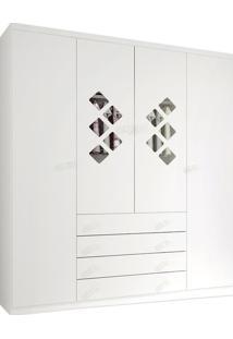 Armário 4 Portas, Branco, Pirulito