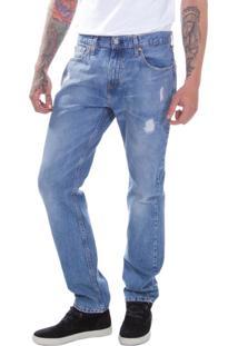 Calça Jeans Levis Masculino 502 Regular Taper Média Azul