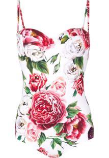Dolce & Gabbana Maiô Estampado - Branco