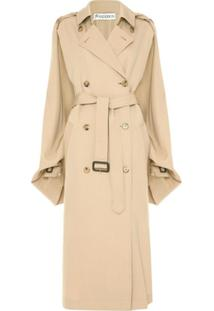 Jw Anderson Open-Sleeve Cape Trench Coat - Neutro