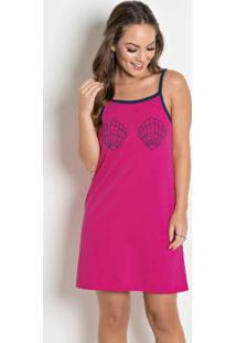 Camisola Com Estampa De Concha Pink E Marinho