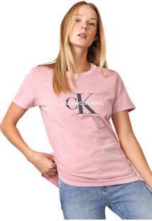 Blusa Calvin Klein Jeans Lettering Rosa