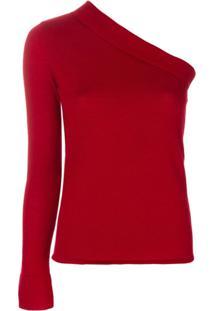 Cashmere In Love Blusa De Cashmere Assimétrica - Vermelho