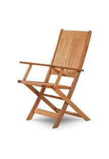 Cadeira Retangular Dobravel Acqualung+ C/ Braco Stain Jatoba 99Cm - 61363 Jatoba