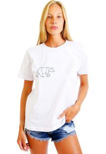 Camiseta Basica Joss Urso Branco
