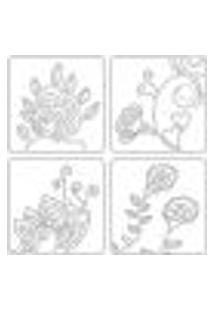 Adesivo De Parede - Flores E Corações - 001Nt-G